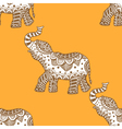 pattern with indian elephants vector image vector image