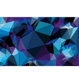polygon blue gradient background vector image