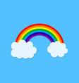 rainbow icon with cloud cartoon wallpaper vector image
