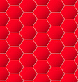 Red geometric hexagon background seamless pattern vector image vector image