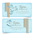Retro natural horizontal banners