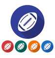 round icon of american football flat style with vector image