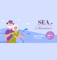 sea cruise as a holiday vacation banner template vector image vector image