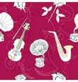Seamless pattern with music vector image vector image