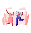 senior married couple sparetime with dancing vector image