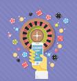 set of casino online elements flat vector image
