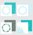 set of four frames and seamless textures vector image