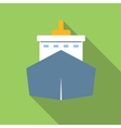 Ship colored flat icon vector image