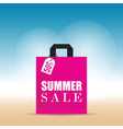 summer sale on pink bag in colorful vector image vector image