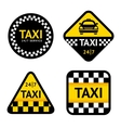 Taxi - set stickers vector image vector image
