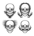 the human skulls set vector image vector image