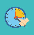 Time management concept Flat design Isolated on vector image vector image