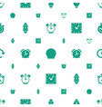 timer icons pattern seamless white background vector image vector image