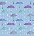 umbrella seamless pattern raindrop background vector image vector image