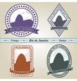 Vintage stamp Rio de Janeiro vector image vector image