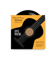 vinyl disc in envelope music plate on white vector image