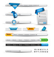 website menus vector image vector image