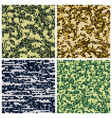 military camouflage army uniform fabric vector image
