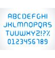 Smooth marker alphabet letters font vector image