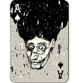 Playing cards All four aces two alternative ace of vector image