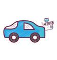 paint car gun to service repair vector image