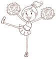 A simple sketch of a cheerleader vector image vector image