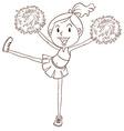 A simple sketch of a cheerleader vector image vector image