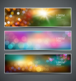 Abstract bokeh collections background vector image vector image