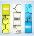 abstract mosaic vertical banners vector image vector image