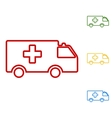 Ambulance sign Set of line icons vector image vector image