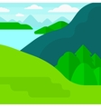 Background of landscape with mountains and lake vector image vector image