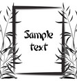bamboo frame black and white vector image vector image