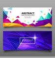 banners triangle geometric abstract set vector image vector image