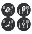 barbecue meat icon for icons vector image