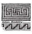 basketry patterns or native american patterns vector image vector image