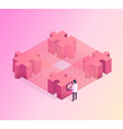 blockchain isometric concept vector image vector image