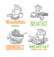breakfast banners template vector image vector image