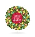 Christmas garland wreath image vector image