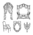 collection baroque furniture made in hand