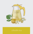 colorful drawing of transparent pitcher with vector image