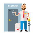 concept membership in the european union vector image