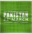 creative abstract for happy pakistan day template vector image