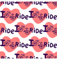 creative hand drawn seamless pattern with bikes vector image