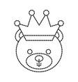cute teddy bear wearing crown animal design vector image