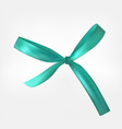 design product blue ribbon and bow 3d realistic vector image vector image