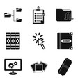 directory icons set simple style vector image