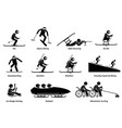 disabled winter sports and games for handicapped vector image