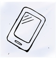 doodle phone with touchscreen display vector image