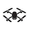 drone quadcopter icon isolated on white background vector image