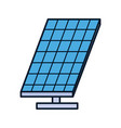 energy solar panel sustainable ecology environment vector image